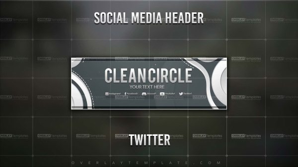 Banner,Preview,Twitter,Clean Circle,overlaytemplate.com
