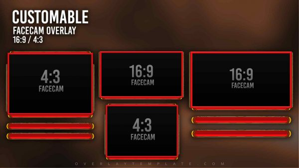 animated overlay package,preview,facecam,overlaytemplate.com