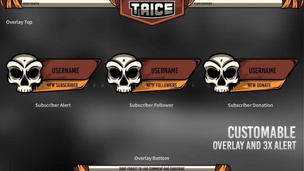 animated overlay package,preview,overlay alert,taice,overlaytemplate.com