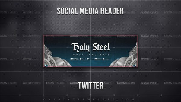 banner,preview,twitter,holy steel,overlaytemplate.com