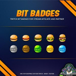 bit badges,preview,burger,overlaytemplate.com