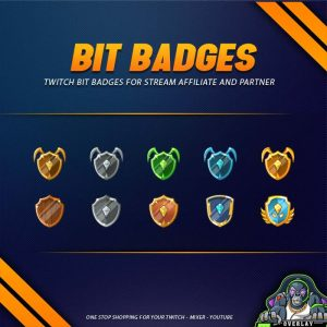 bit badges,preview,diamond shield,overlaytemplate.com