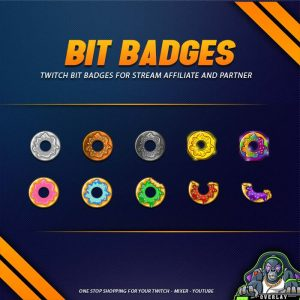 bit badges,preview,donuts,overlaytemplate.com