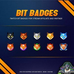 bit badges,preview,fox head,overlaytemplate.com