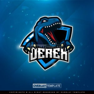 logo,preview,blue raptor,overlaytemplate.com