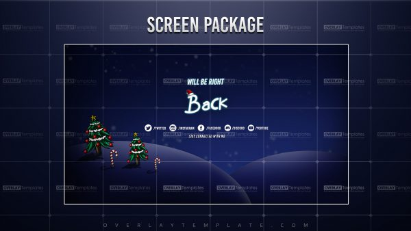 screen,preview,brb,christmas night,overlaytemplate.com