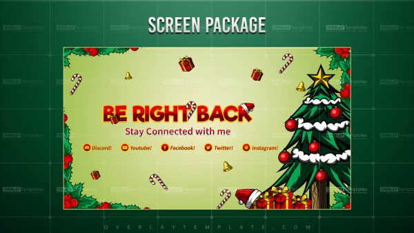 screen,preview,brb,christmas theme,overlaytemplate.com