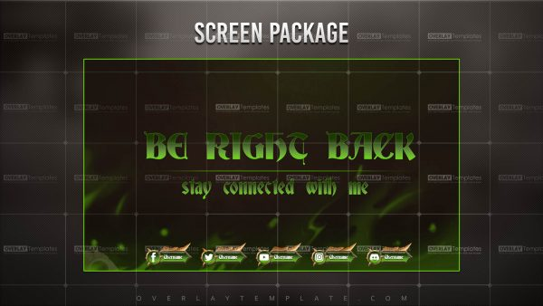 screen,preview,brb,dragons lair,overlaytemplate.com