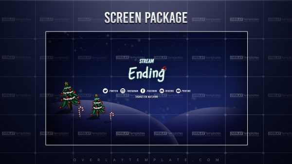 screen,preview,ending,christmas night,overlaytemplate.com