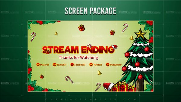 screen,preview,ending,christmas theme,overlaytemplate.com