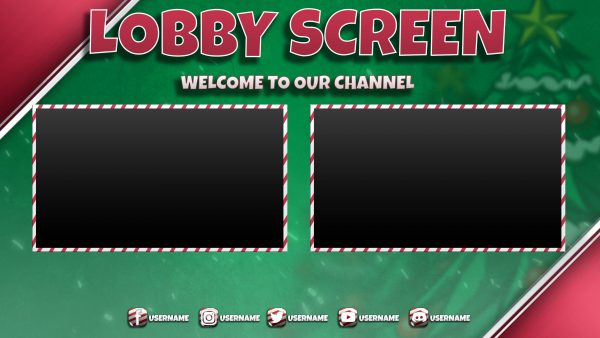 screen,preview,lobby,christmas green,overlaytemplate.com