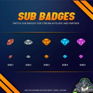 sub badges,preview,diamond,overlaytemplate.com