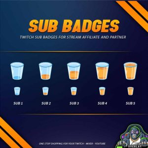 sub badges,preview,glass,overlaytemplate.com