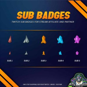 sub badges,preview,kroket,overlaytemplate.com