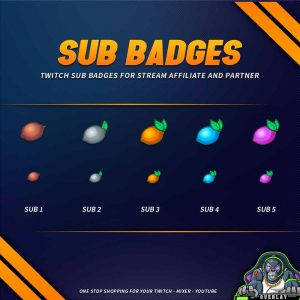 sub badges,preview,lemon,overlaytemplate.com