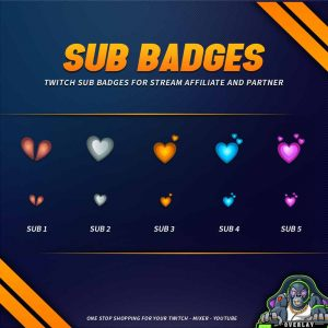 sub badges,preview,love,overlaytemplate.com