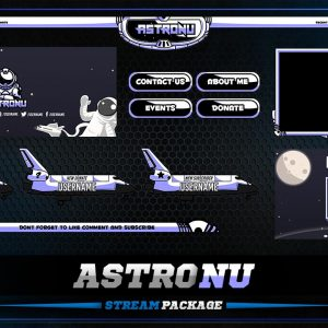 aniamted overlay package,preview,astronau,overlaytemplate.com