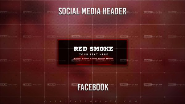banner,preview,facebook,smoke red,overlaytemplate.com