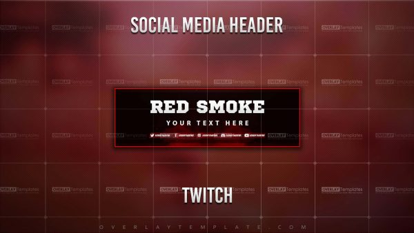 banner,preview,twitch,smoke red,overlaytemplate.com