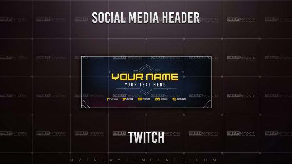 banner,preview,twitch,techno sci-fi,overlaytemplate.com