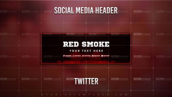 banner,preview,twitter,smoke red,overlaytemplate.com