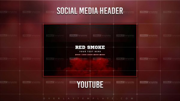 banner,preview,youtube,smoke red,overlaytemplate.com
