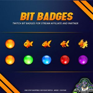 bit badges,preview,gold fish,overlaytemplate.com