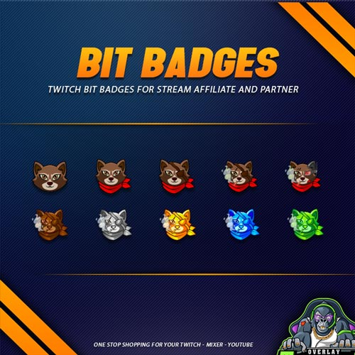 bit badges,preview,raccon,overlaytemplate.com