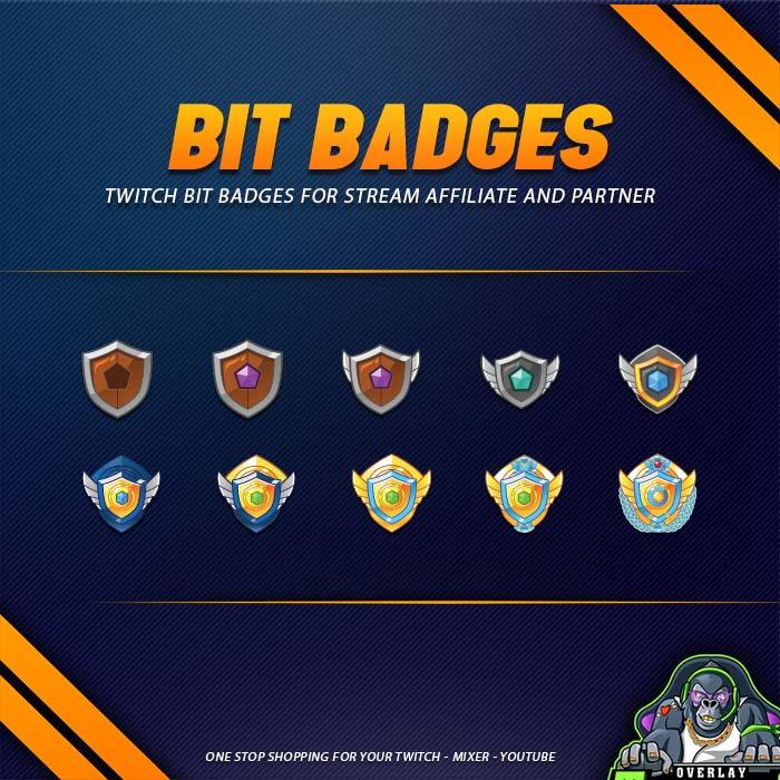 bit badges,preview,wooden shield,overlaytemplate.com