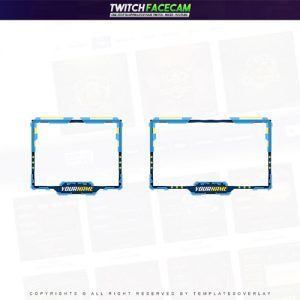 facecam,preview,Techno,templateoverlay.com
