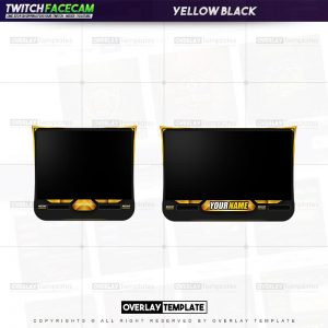 facecam,preview,yellow black,overlaytemplate.com