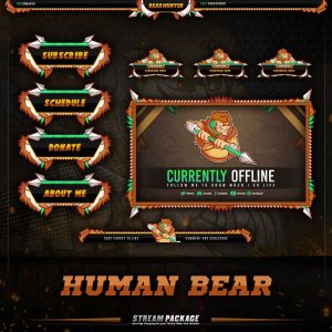 package,thumbnail,human bear gamer,overlaytemplate.com