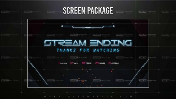 screen,preview,ending,techno lasers,overlaytemplate.com