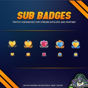 sub badges,preview,love meter,overlaytemplate.com