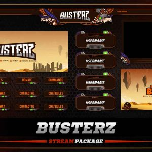 animated overlay package,thumbnail,busterz,overlaytemplate.com