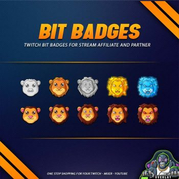 bit badges,preview,lion,overlaytemplate.com