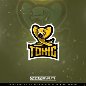 logo,preview,toxic cobra,overlaytemplate.com