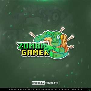 logo,preview,zombie gamer,overlaytemplate.com