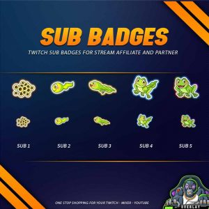 sub badges,preview,frog,overlaytemplate.com