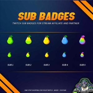 sub badges,preview,pear,overlaytemplate.com