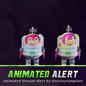 animated alert,preview,astronout,overlaytemplate.com