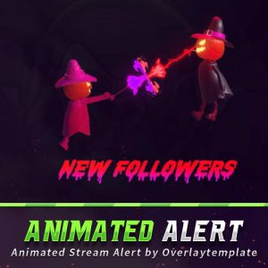 animated alert,preview,pumpkin witch,overlaytemplate.com
