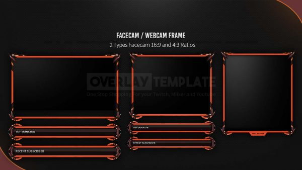 animated overlay package,preview facecam,indiant,overlaytemplate.com