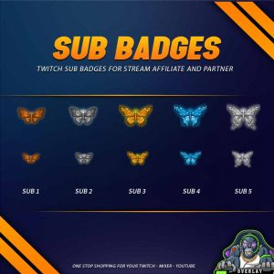 sub badges,preview,Butterfly2,overlaytemplate.com