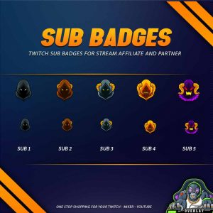 sub badges,preview,ghost,overlaytemplate.com