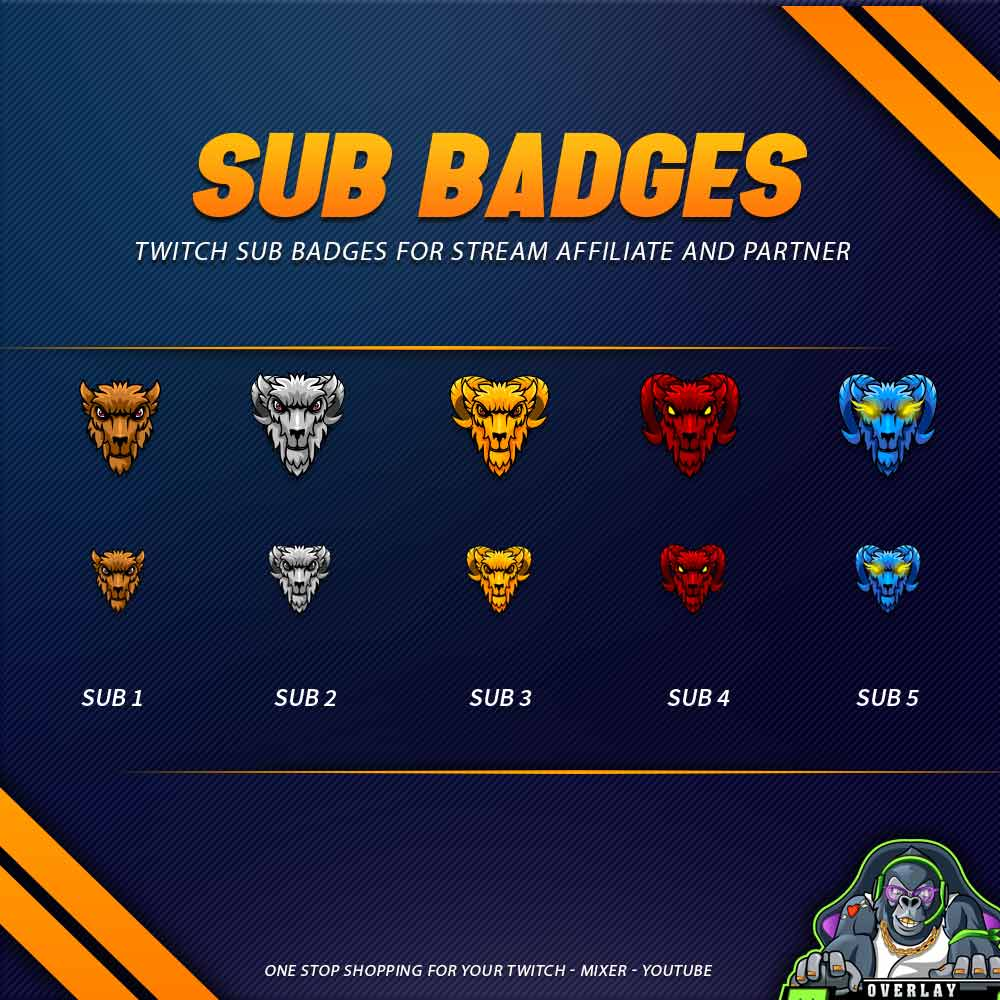 sub badges,preview,goat,overlaytemplate.com