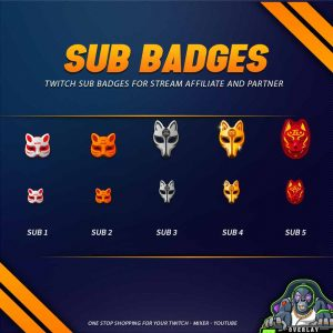 sub badges,preview,kitsune,overlaytemplate.com