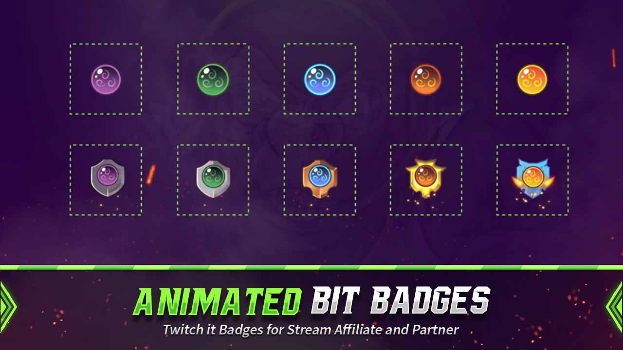 animated bit badges,preview,ball element,overlaytemplate.com