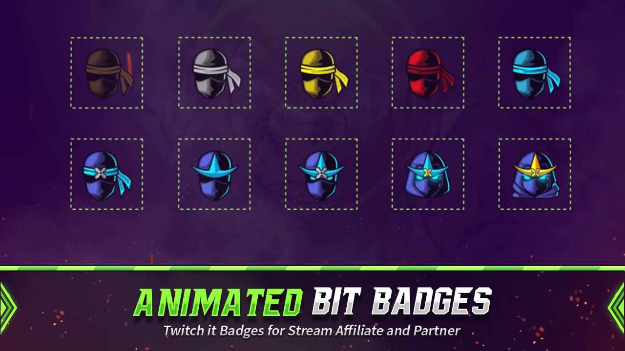 animated bit badges,preview,ninja,overlaytemplate.com