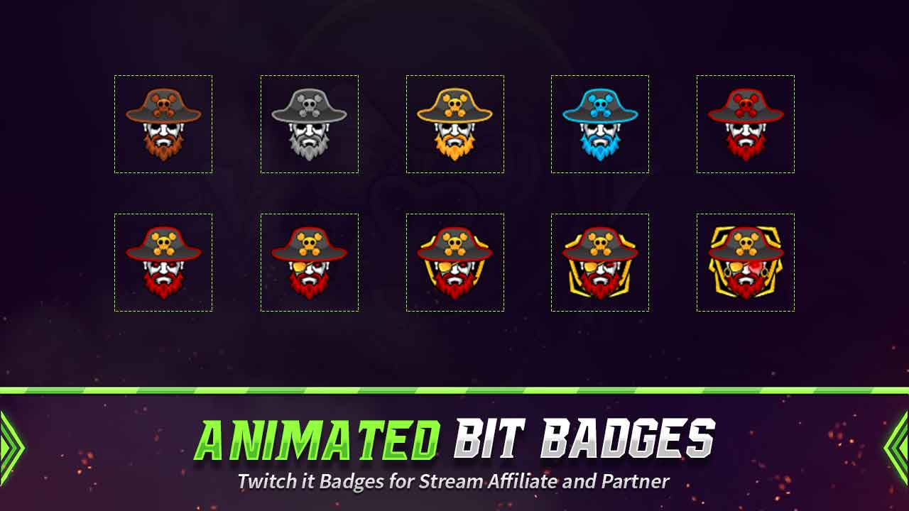 animated bit badges,preview,pirate,overlaytemplate.com